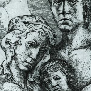The story of a couple by Hristo Kerin. Family (detail)