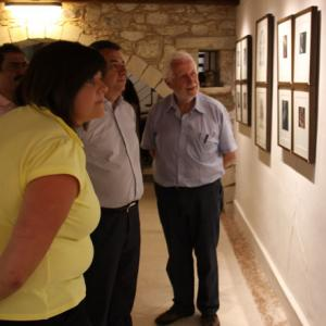 Mr.Gerard Polderman guiding Mr.Arnaoutakis and other  visitors