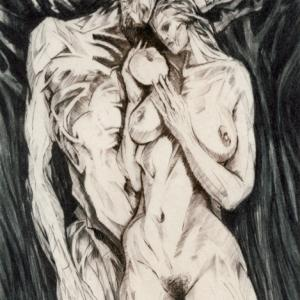 "Ex Libris ""Adam and Eve"" by Karlos Musil"