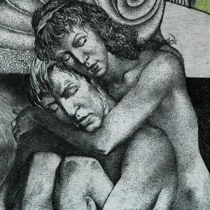 The story of a couple by Hristo Kerin. Sadness (detail)